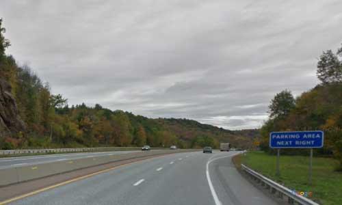vt interstate 89 vermont i89 parking rest area wayside mile marker 65 southbound off ramp exit