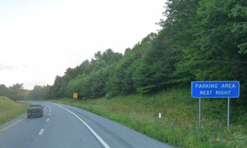 vt interstate 91 vermont i91 parking rest area wayside mile marker 115 southbound off ramp exit