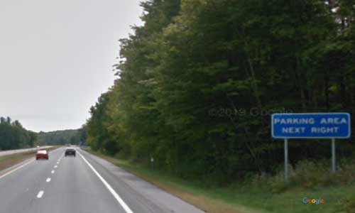 vt interstate 91 vermont i91 parking rest area wayside mile marker 22 southbound off ramp exit
