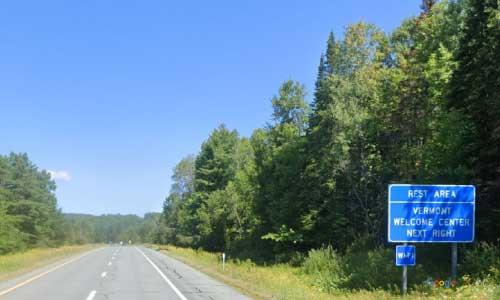 vt interstate 93 vermont i93 waterford information welcome center rest area mile marker 1 northbound off ramp exit